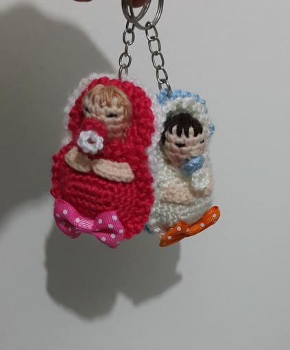 Amigurumi Emzikli Bebek Kafası Anahtarlık Yapımı - Örgü Modelleri | 510x423