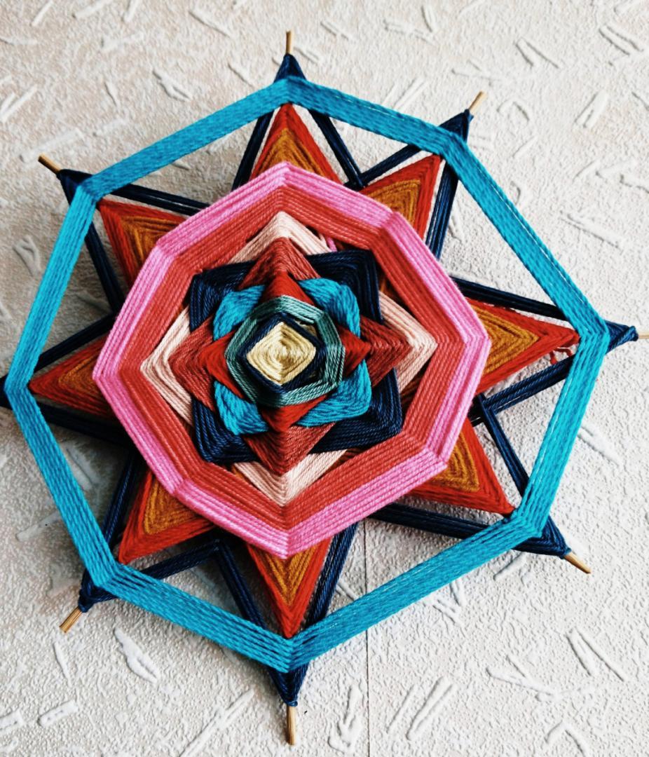 İp Mandala Dekoratif Obje Yapımı