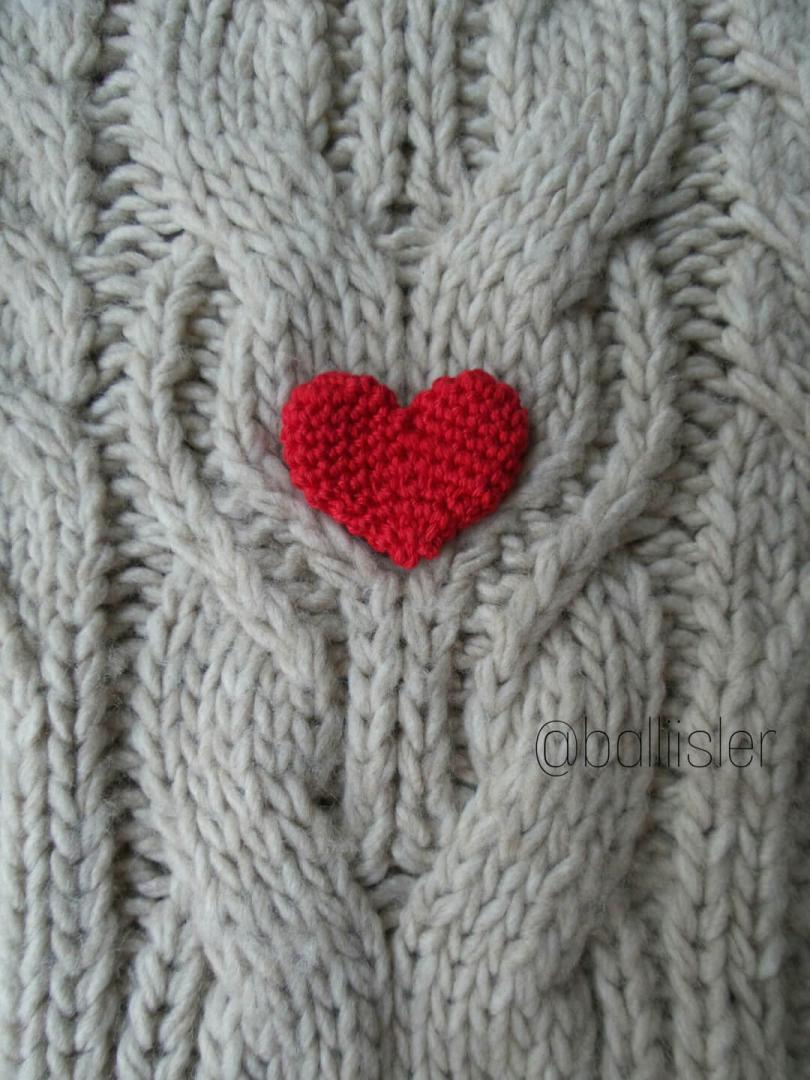 Ev-Dekorasyon - Tunus İşi Kalp Yastık Yapımı - Örgü Modelleri | 1080x810