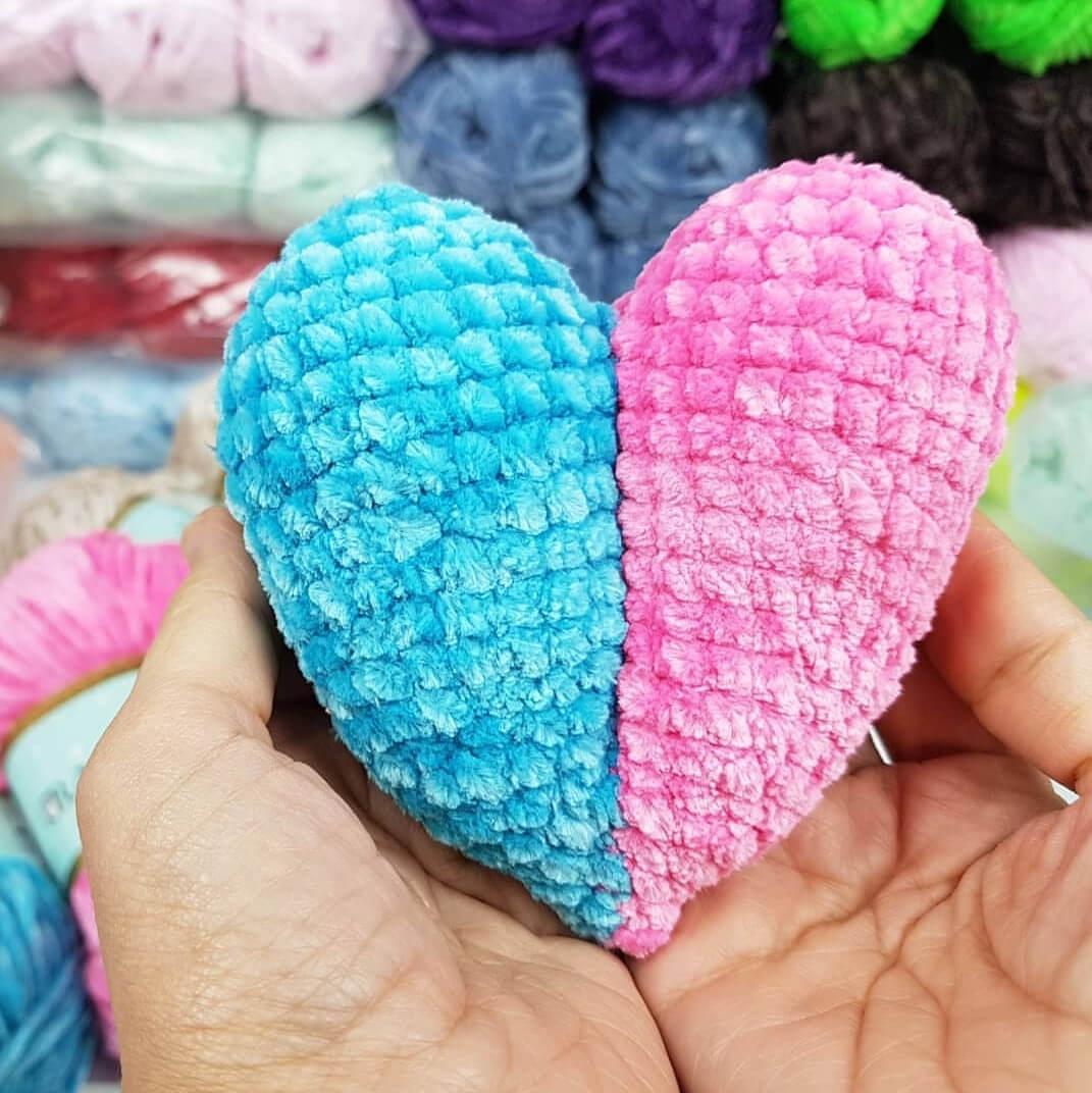 Yaseminkale: amigurumi kalp yapılışı | 1072x1071