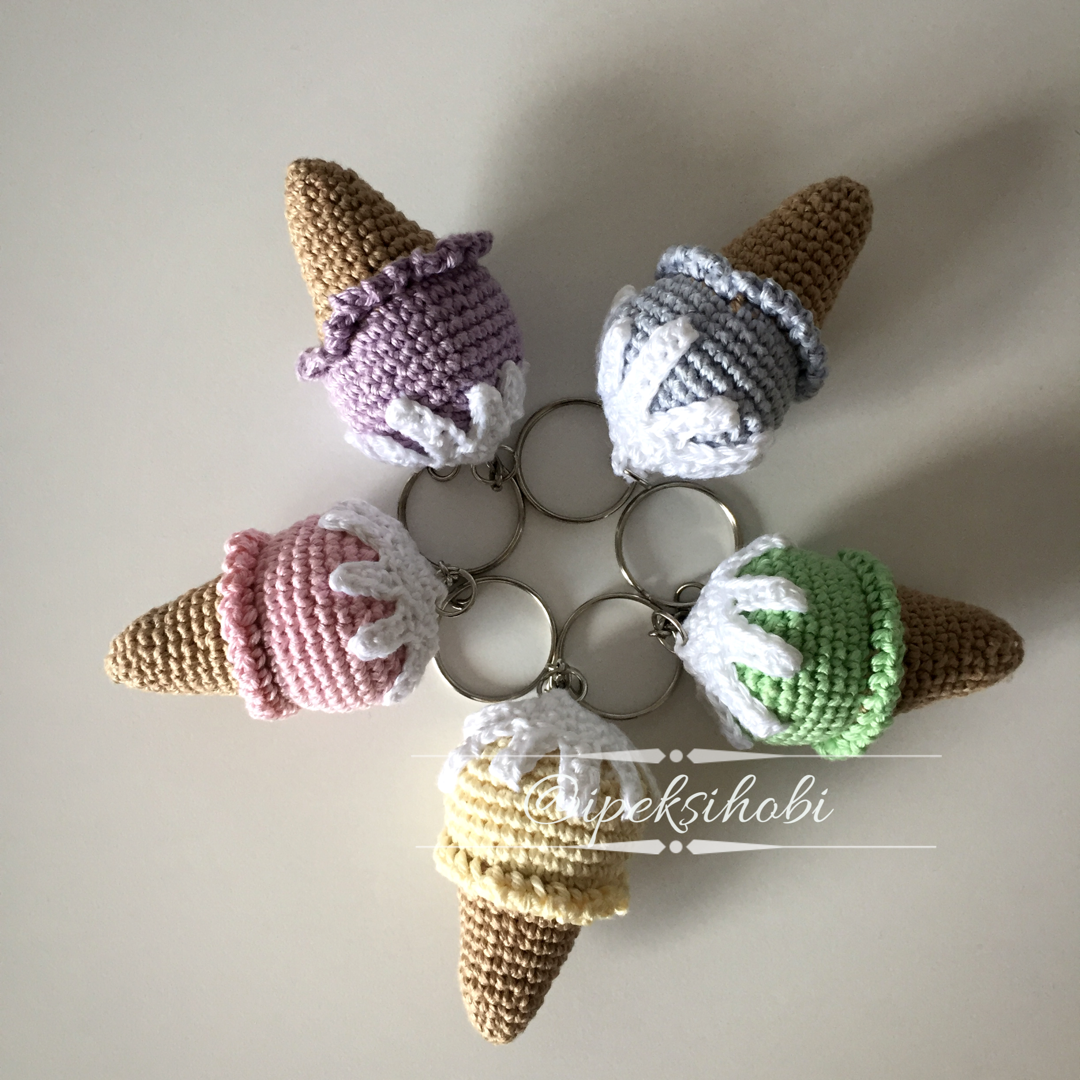 amigurumi-dondurma-anahtarlik-yapimi