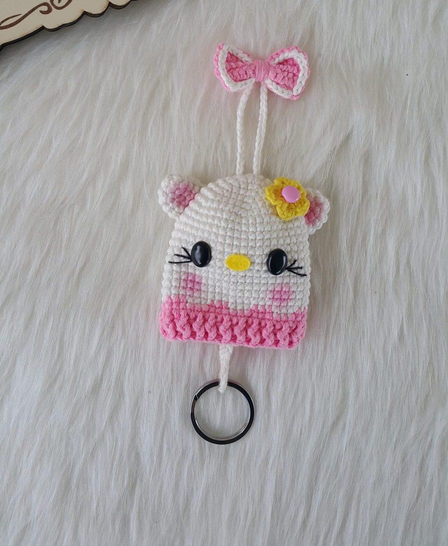 amigurumi-hello-kitty-anahtarlik-yapimi
