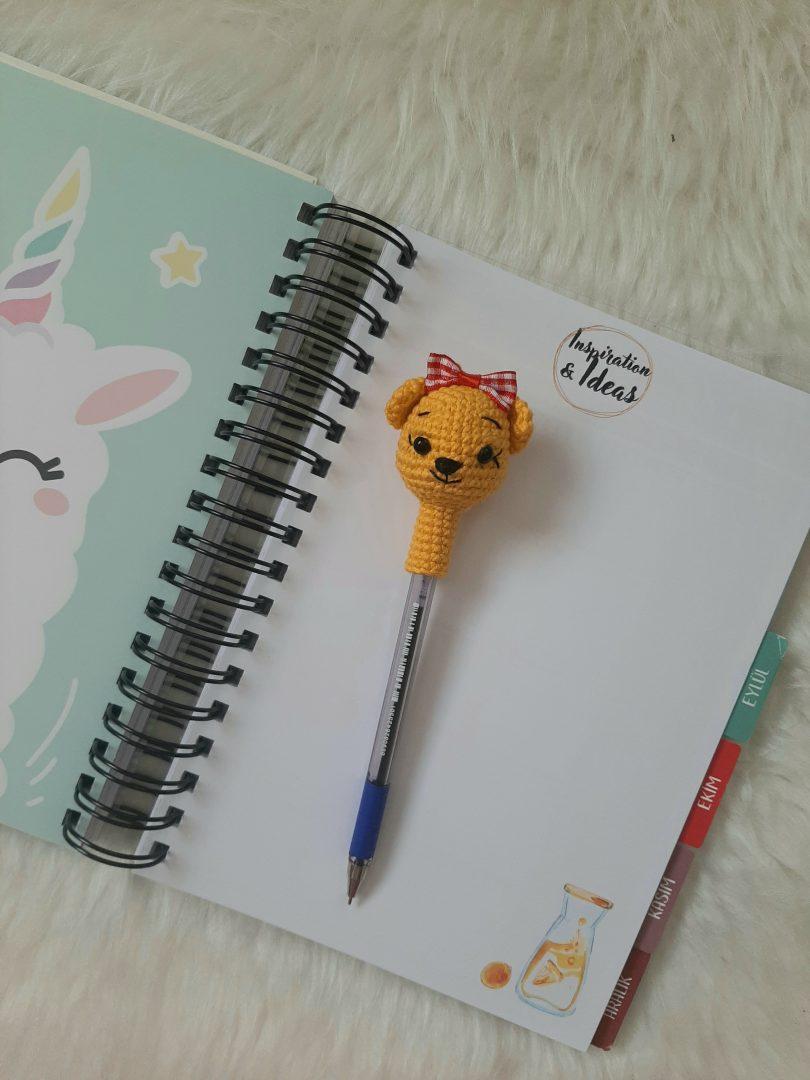 amigurumi-ayicik-kalem-basligi-yapimi