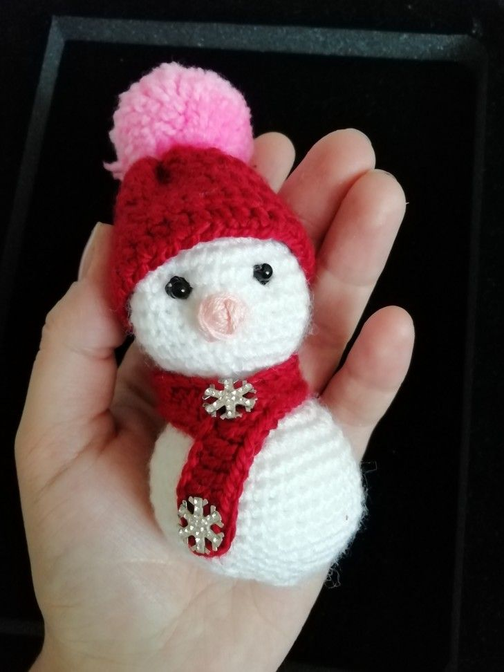 amigurumi-mini-kardan-adam-yapimi