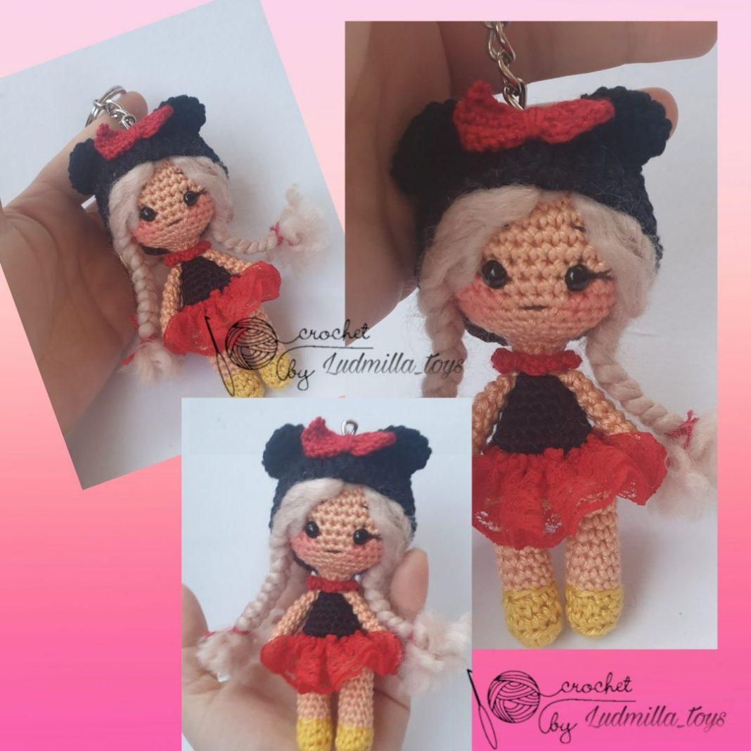 minnie-mouse-kostumlu-kiz-bebek-anahtarlik-yapimi