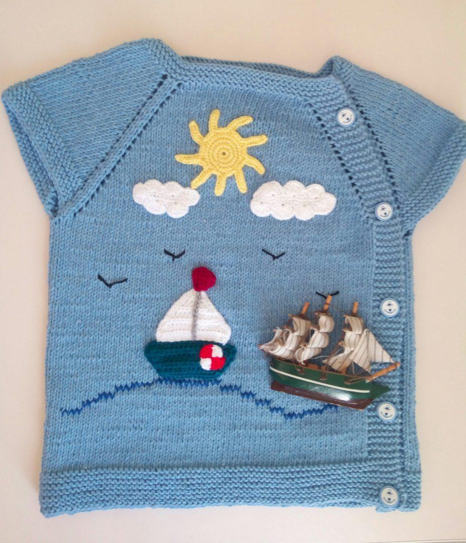 deniz-temali-yandan-dugmeli-bebek-yelegi-yapimi